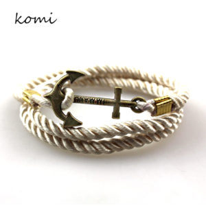 Retro Anchor Rope Bracelet 1