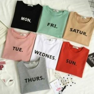 Days of the Weeks T-Shirts