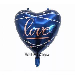 Printed Heart Shaped Love Foil Balloon