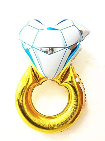 Buy Engagement/Wedding Ring Foil Balloon Online | Sasta.PK