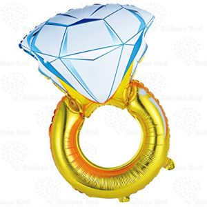 Engagement or Wedding Ring Foil Balloon