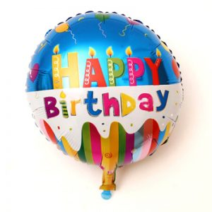 Round Happy Birthday Foil Balloons