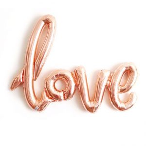 Love Text Shaped Foil Balloons