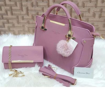 Christian Dior 2 Piece Bag Set With Long Strap