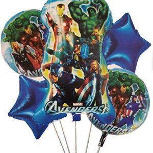 Pack Of 5 Avengers Foil Balloons