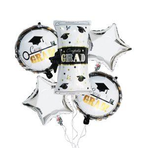 Pack Of 5 Congrats Grad Foil Balloons