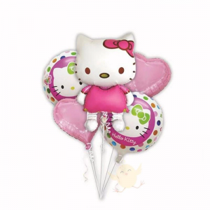 Pack Of 5 Hello Kitty Foil Balloons