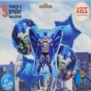Pack Of 5 Justice League Foil Balloons