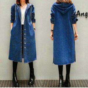 Light Denim Long Coat