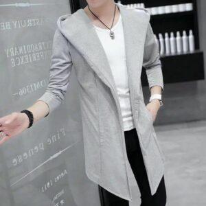 Hazel Grey Long Coat